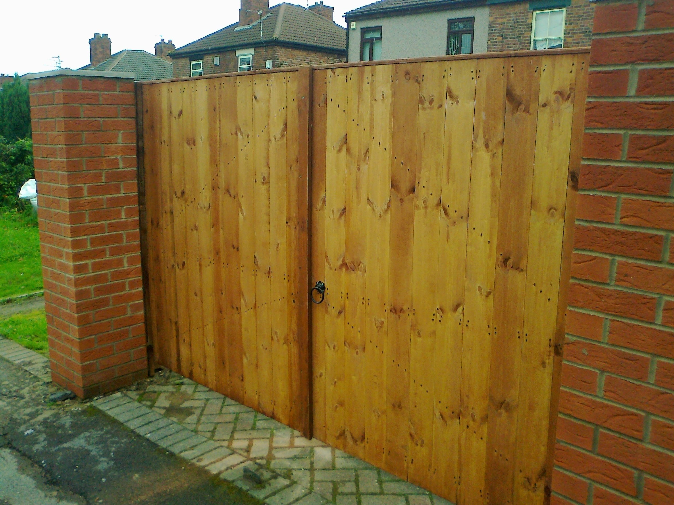Superb img of Bespoke planed wood gates available to be made to measure and come in  with #734319 color and 2592x1944 pixels